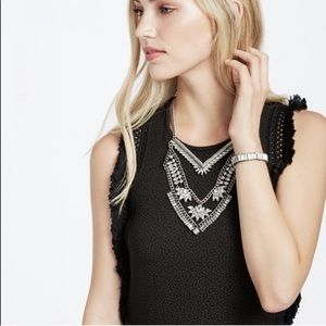 Baublebar Xena Bib Necklace Antiqued Silver